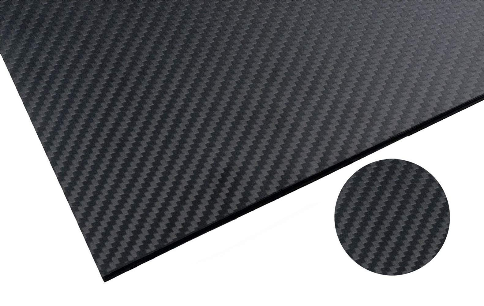 RacingCarbon 500X400X3.0MM 100% 3K Full Carbon Fiber Sheet - 3mm Thick - Twill Weave Matte Surface by RacingCarbon