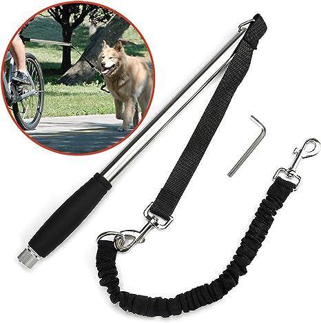 Poppypet – Correa negra de bicicleta para perro, correa manos ...