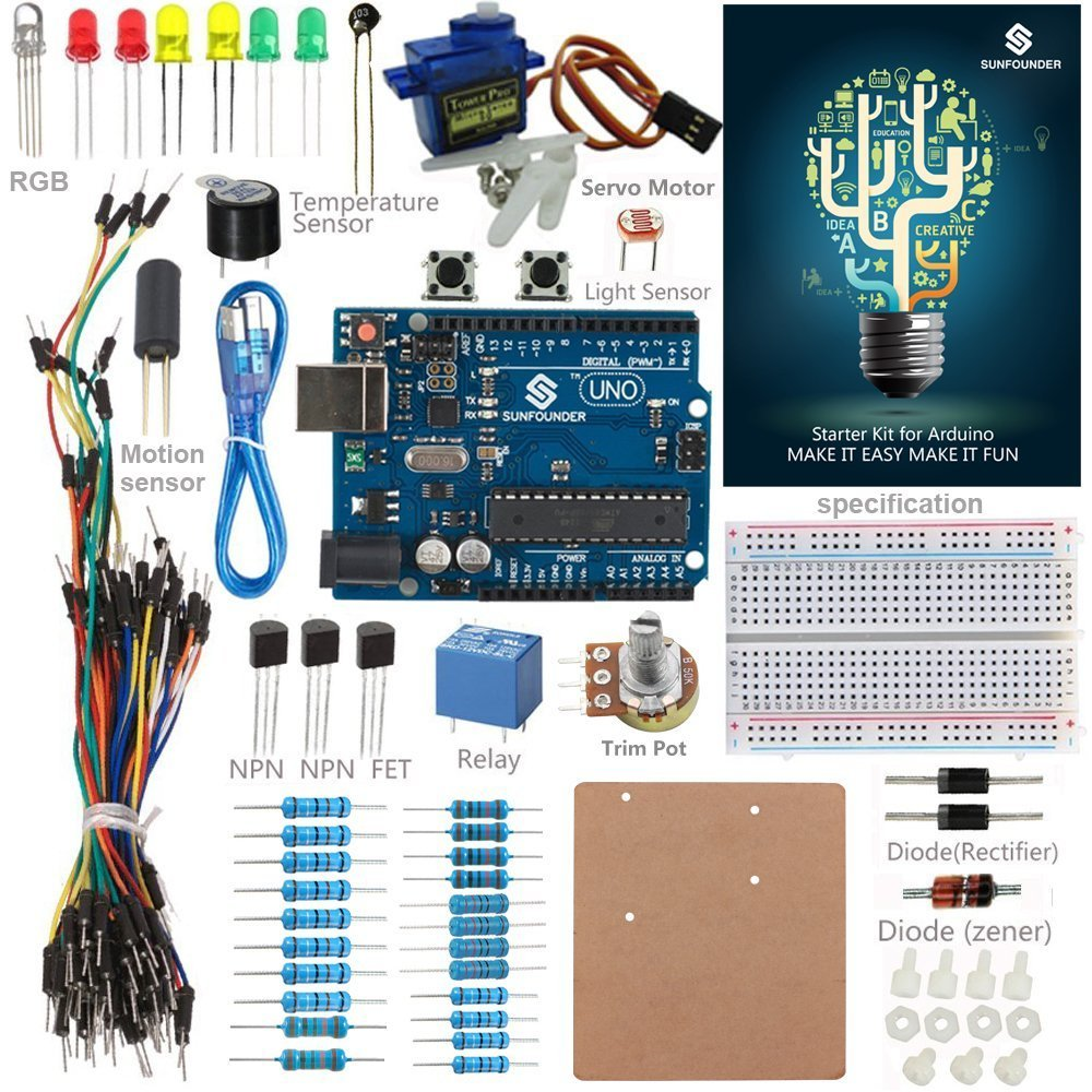 Best Rated In Electronics Kits Helpful Customer Reviews Project Electronic Stethoscope Designing Engineering Sunfounder New Uno R3 Starter Kit For Arduino Mega2560 Mega328 Nano Product Image
