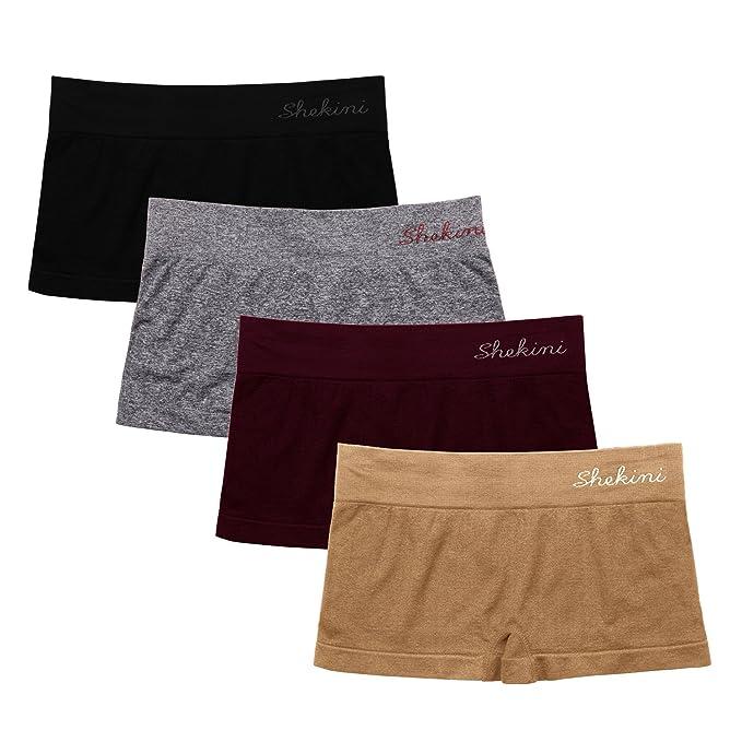 SHEKINI Culotte sin Costuras de Pretina Ancha Braguita Shorts para Mujer  Pack de 4  Amazon.es  Ropa y accesorios 0591a54fae16