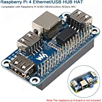 MakerFocus Raspberry Pi 4 Expansion Board Ethernet/USB HUB HAT 5V, with 1 RJ45 10/100M Ethernet Port and 3 USB Ports…