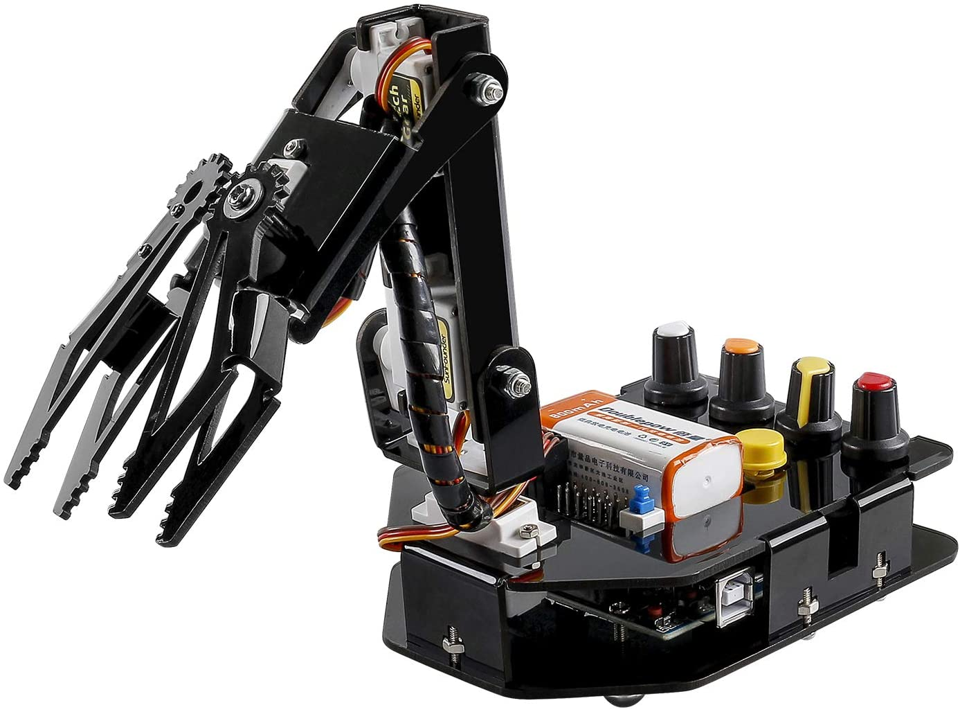 SunFounder Robotic Arm Edge Kit for Arduino R3 - an Robot Arm to Learn STEM Education(101 Pieces)