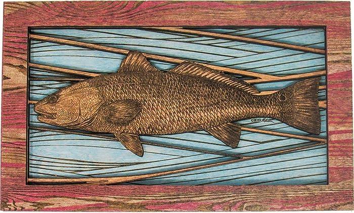 Amazon com: Fish wall Art Decor - 3D Wood Redfish Art: Handmade