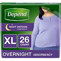 Depend Night Defense Incontinence Overnight Underwear for Women, XL, 26 count