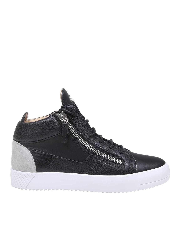 - Giuseppe Zanotti Design Hombre RU90023001 negro Cuero Hauszapatos
