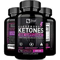 Exogenous Ketones BHB Keto Pills (2870mg | 120 Capsules) Keto Diet Pills w. MCT Oil, BHB Salts Beta Hydroxybutyrate, Natural Caffeine - Keto Supplement for Keto Weight Loss - Keto Diet from Shark Tank