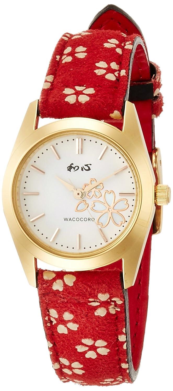 [ワココロ]和心 腕時計 日本製 宇陀印傳(印伝) 3針 WA-001L-I レディース B01ALD9J6Q