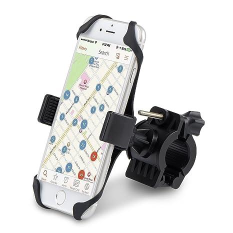 Alfort Soporte Móvil Bicicletas, Soporte de Bicicleta para Teléfonos y GPS Ajustable Sostenedor del Teléfono