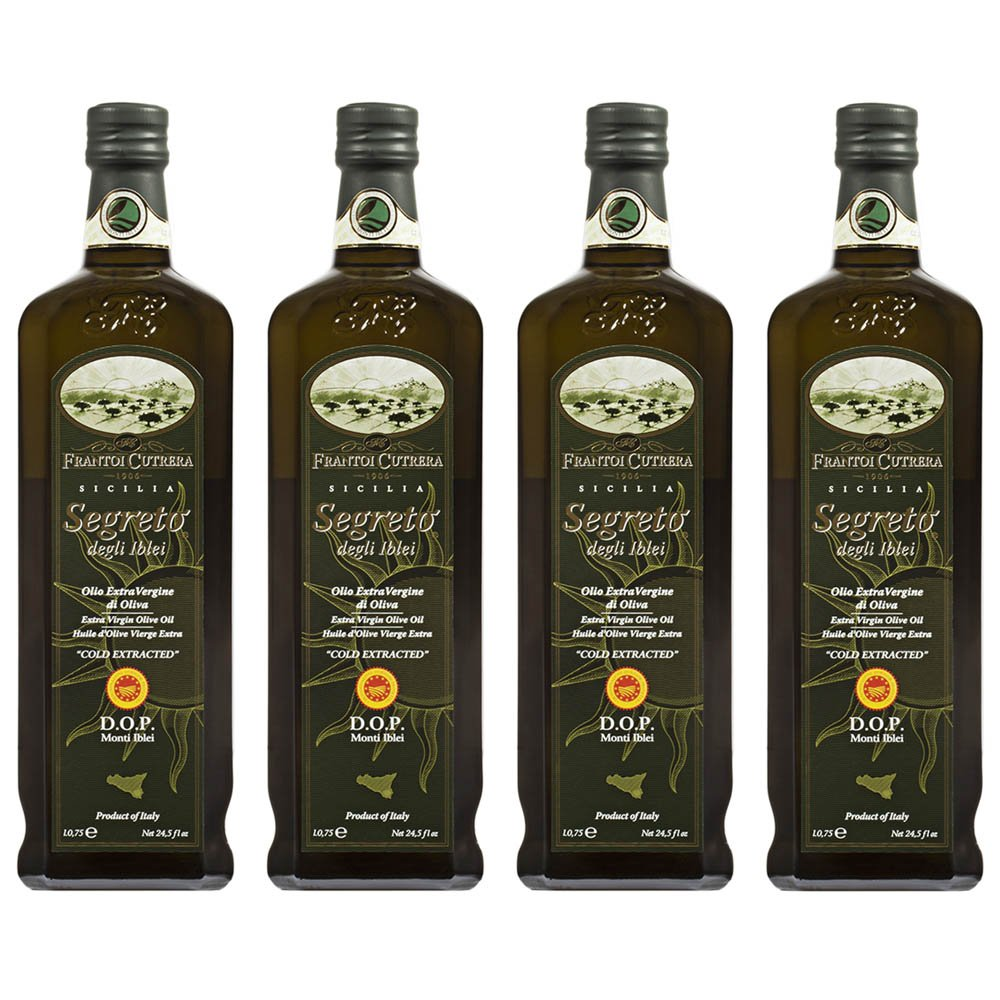 Frantoi Cutrera Segreto Degli Iblei Cold Extracted Extra Virgin Olive Oil D.O.P - Product of Italy, 24.5fl.oz (4 pack) by Frantoi Cutrera (Image #1)