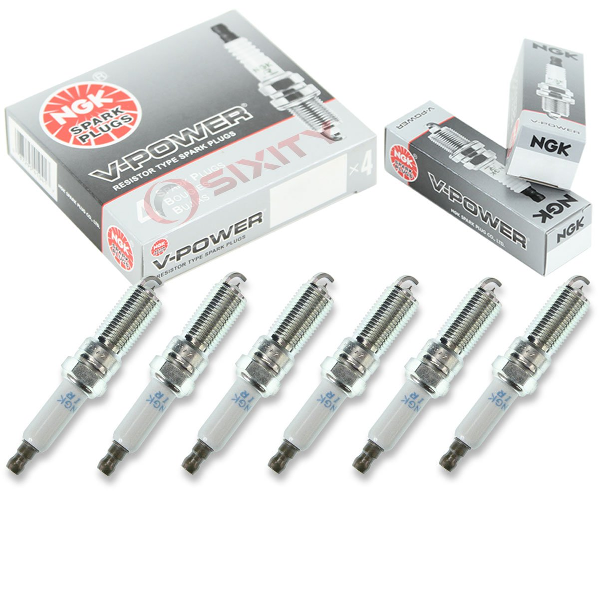 Amazon.com: NGK V-Power 6pcs Spark Plugs Dodge Grand Caravan 01-10 3.8L 3.3L V6 Kit Set: Automotive