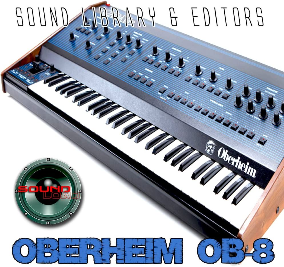 OBERHEIM OB-8 Huge Original Factory and NEW created Sound Library & Editors on CD or download