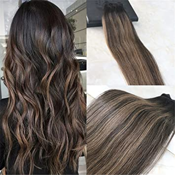 Amazon hairdancing balayage color 16inch remy hair extensions hairdancing balayage color 16inch remy hair extensions natural black to chesnut brown highlight black human hair pmusecretfo Choice Image