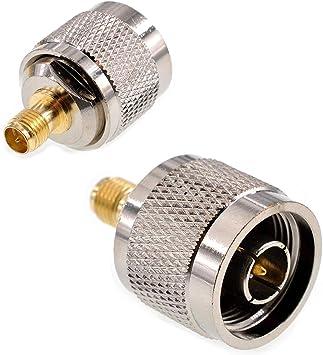 Oiyagai 2 conectores N macho a RP SMA hembra conector RF ...
