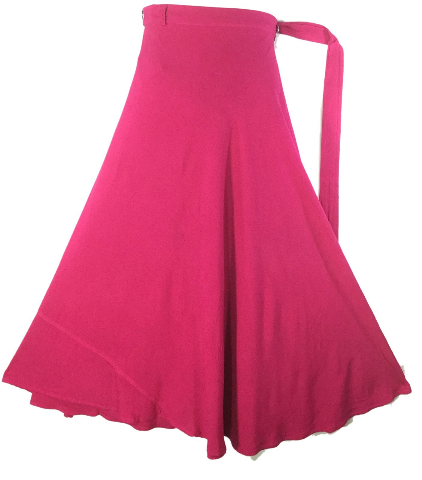 Decoraapparel Wrap Around Skirts African Women's Skirt Rayon Maxi Bright Color Skirt