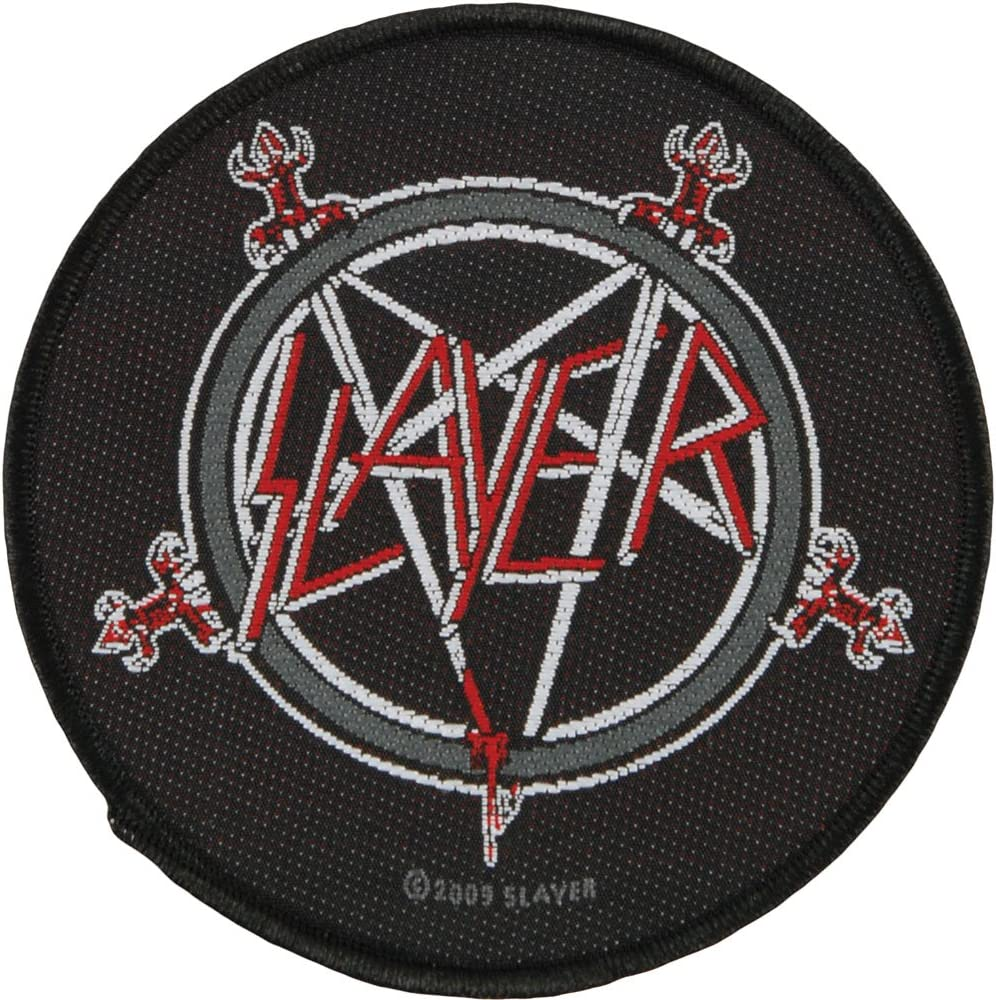 SLAYER Embroidered Patch Iron Sew Logo music rock band thrash heavy metal badge