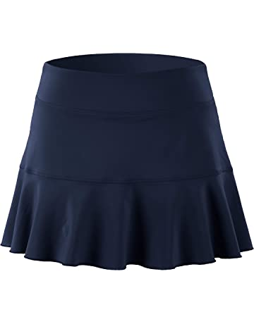 on sale 785f3 75eb6 32e-SANERYI Women s Pleated Elastic Quick-Drying Tennis Skirt with Shorts  Running Skort