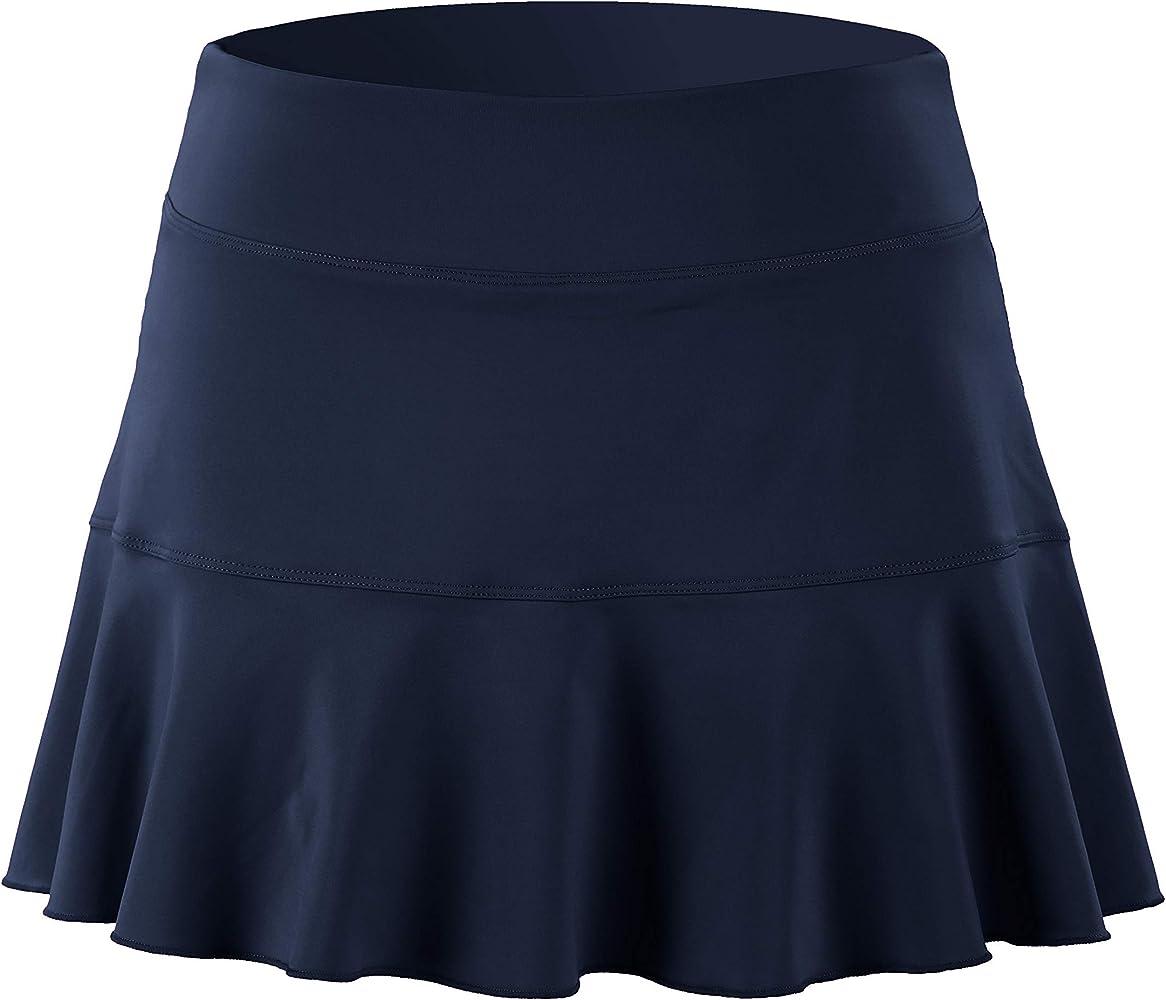 32e-SANERYI Falda de Tenis Plisada elástica de Secado rápido con ...