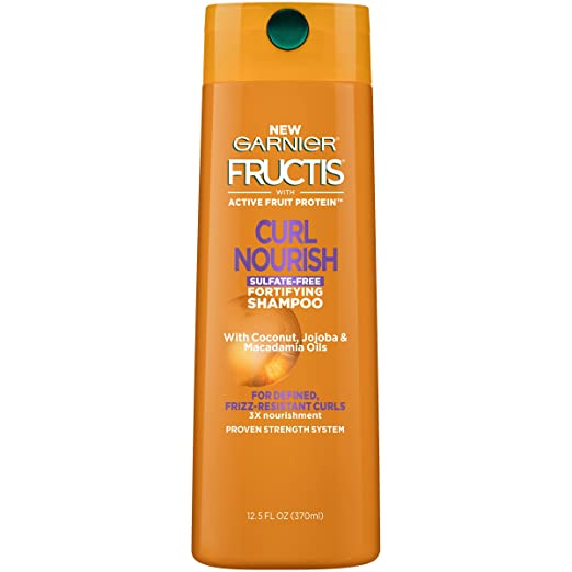 Garnier Hair Care Fructis Triple Nutrition Curl Nourish Shampoo, 12.5 Fluid
