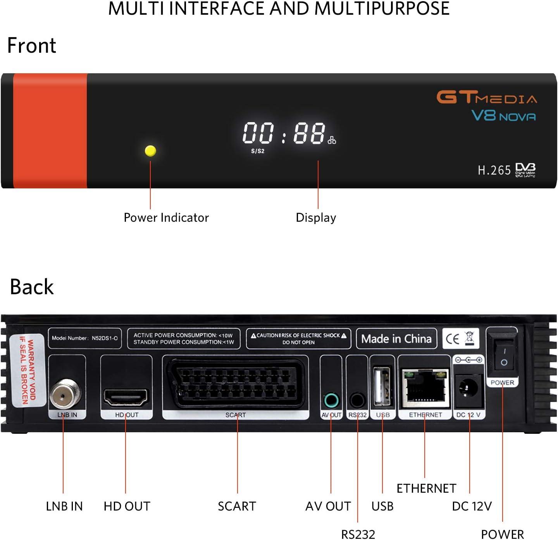 GT Media V8 Nova DVB-S2 Decodificador Satélite Receptor de TV ...