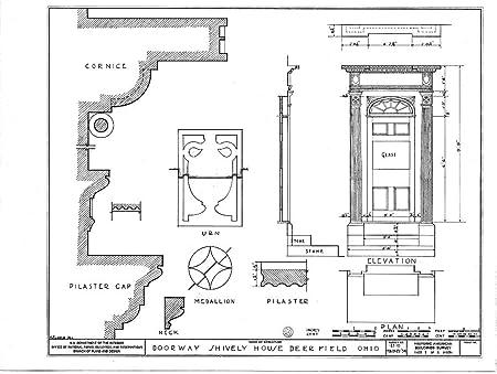 doorway schematic amazon com historic pictoric blueprint diagram habs ohio  67 deer  amazon com historic pictoric blueprint