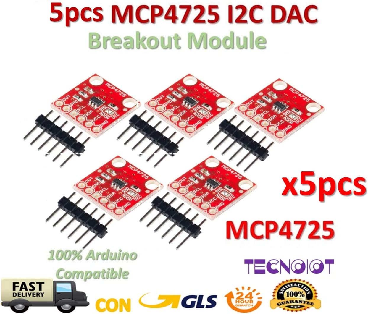I2C MCP4725 DAC Breakout Development Board module 12Bit Resolution