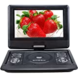 10.1 Inch NS-1129 TFT Screen DVD Player Car DVD Player Portable DVD with TV and recording function from AVI/CD/MP3 to USB/SD, Black
