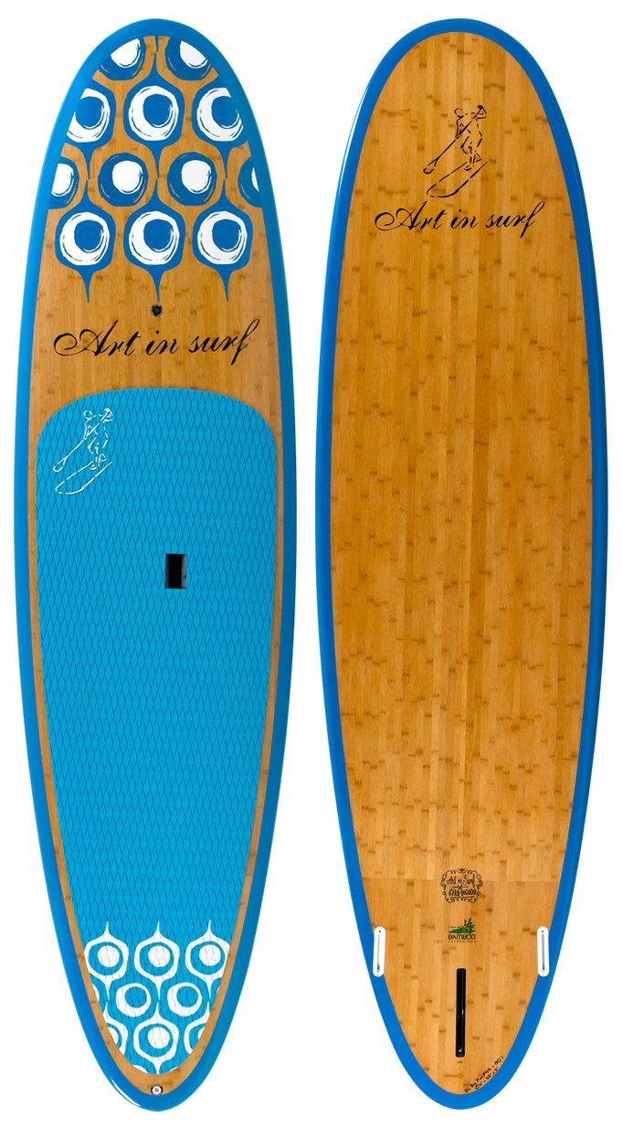 Art in Surf Da Big Fun Paddle Board, 10'6'' x 33'' x 5''/190 L, Blue by Art in Surf (Image #1)