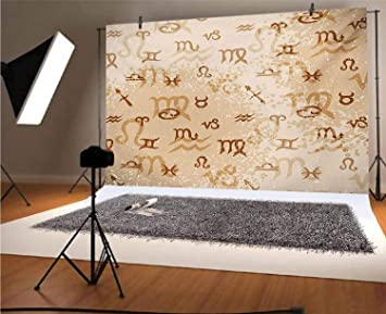 Amazon Com Astrology 5x3 Ft Vinyl Photography Background Backdrops Ancient Abstract Astrological Zodiac Signs Grunge Backdrop Image Background For Graduation Prom Dance Decor Photo Booth Studio Prop Banner Camera Photo