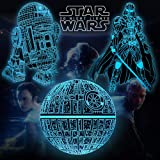 Star Wars Toys Night Light for Kids, Easter Basket Stuffers 16 Color Changing Star Wars Gifts with Remote & Smart Touch, Chri
