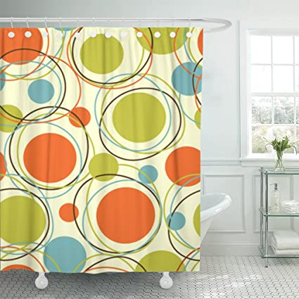 Amazon Emvency Shower Curtain Colorful Pattern Retro Abstract
