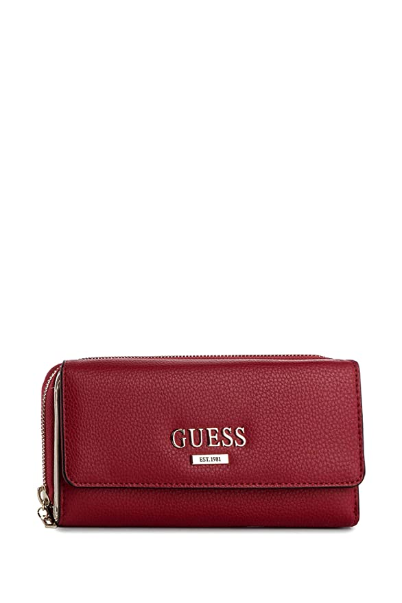 Guess Alma SLG Large Embrague Organizer Red: Amazon.es ...