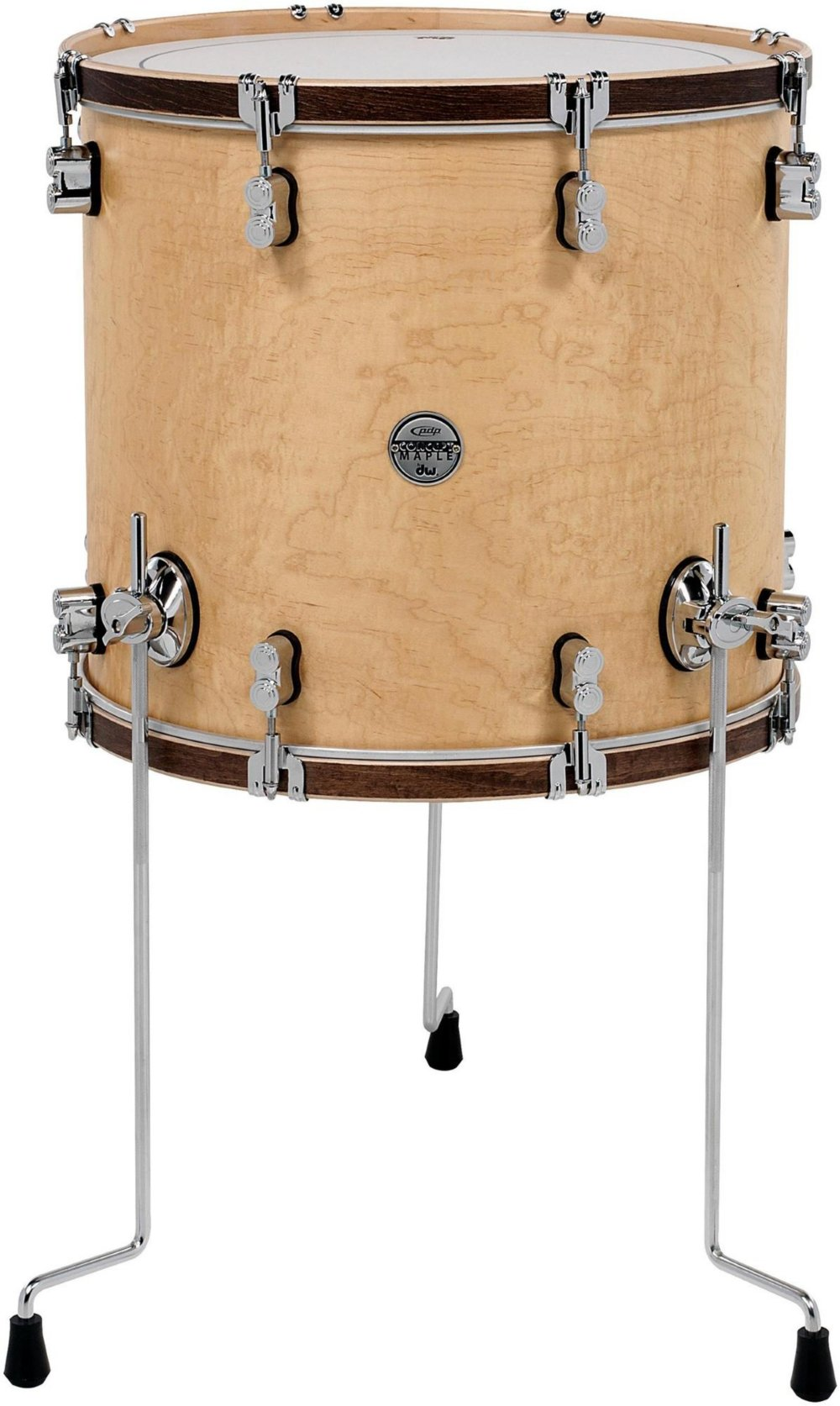 PDP Concept Maple Classic Floor Tom with Tobacco Hoops 18 x 16 in. Natural by PDP