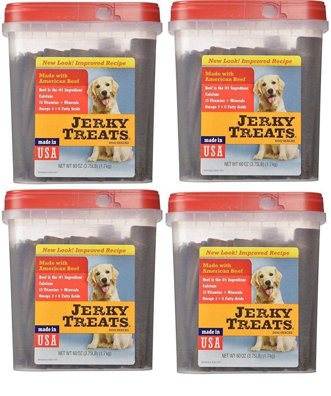 Jerky Treats Tender Beef Strips Dog Snacks, 60 oz, Large (4 Pack)