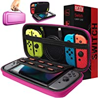 Orzly Carry Case Compatible with Nintendo Switch - Pink Protective Hard Portable Travel Carry Case Shell Pouch for…