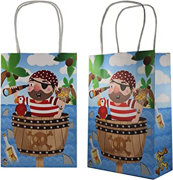 Toy Gift Wedding//Kids Loot Pirate Themed Party Bag Pre Filled