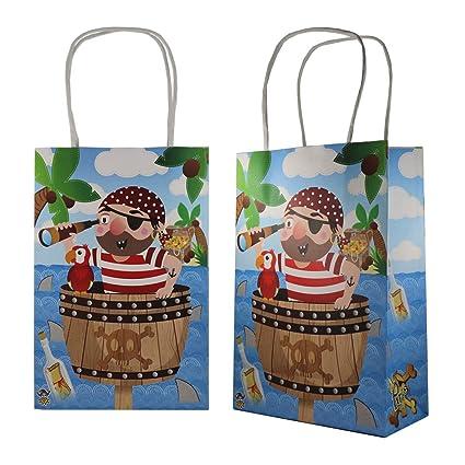 6 bolsas de regalo para cumpleaños infantiles, diseño de ...
