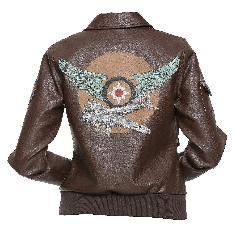 marron Aviator veste Faux cuir X-grand-44 mode_First - Blouson - Femme