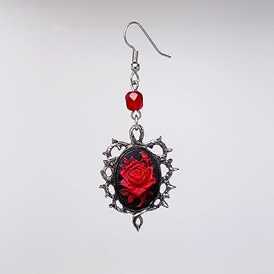 Spooky earrings Raven Cameo Pendant earrings Gothic Raven earrings Nevermore inspired earrings.Skull and Raven Cameo earrings.