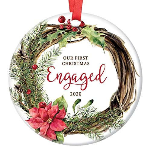 Engagement Christmas Ornament 2020 Amazon.com: Our First Christmas Engaged Ornament 2020 Holiday