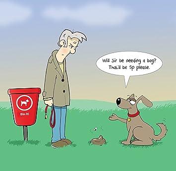 Carte Humoristique Twizler Avec Un Homme Un Chien Et Un Sac 5p