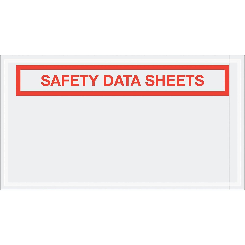 Pack of 1000 5 1//2 x 10 Aviditi PL494 Tape Logic SDS Envelopes,Safety Data Sheets Clear