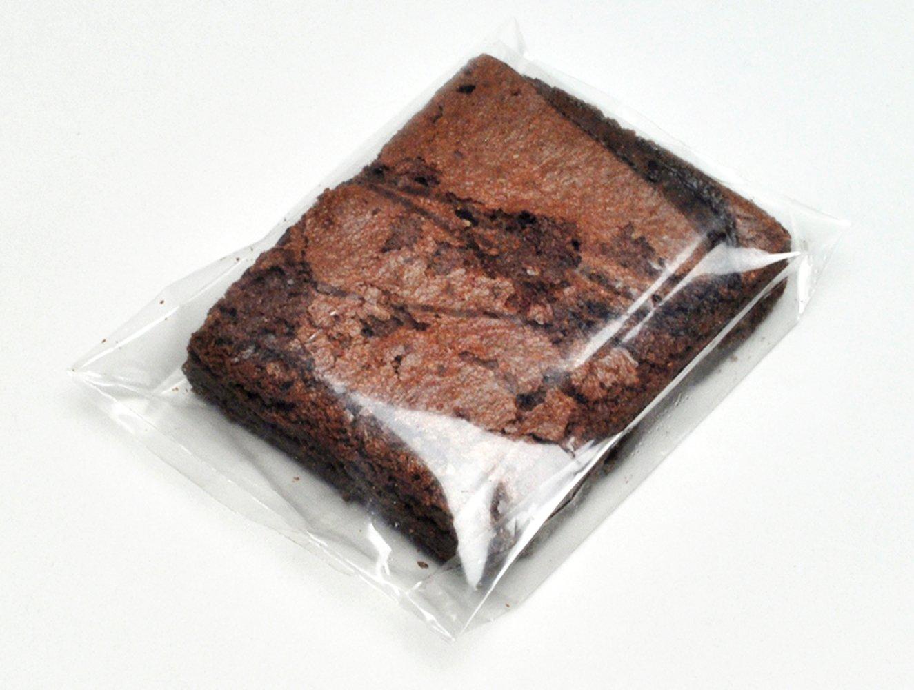 5 x 5 + 1'' BG + 1-1/2'' LIP Clear Plastic Brownie/Fudge Bag (1,000 Bags) - Elkay Plastics PSB551CK