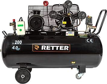 Compresor de aire 200 L, lubricado al aceite, compresor de aire 3 cilindros profesional: Amazon.es: Bricolaje y herramientas