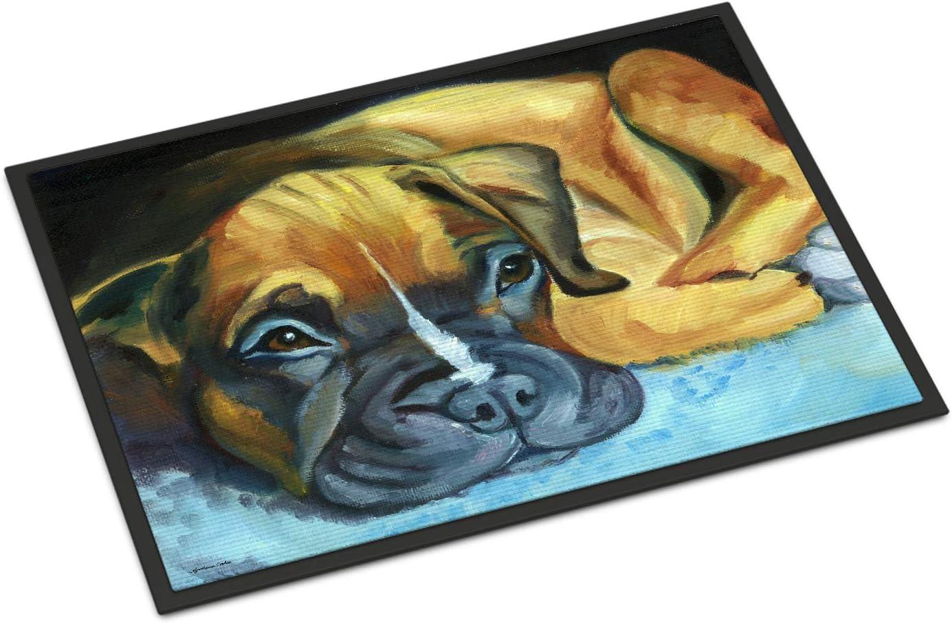 Caroline s Treasures 7401JMAT Boxer Pup Indoor or Outdoor Mat 24×36, 24H X 36W, Multicolor