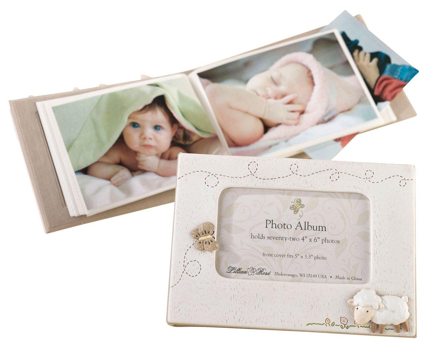Lillian Rose Photo Album with Photo Frame On Cover, Blue Owl, 4.75 x 7 4.75 x 7 24PH210 OB