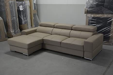 Amazon.com: BAZALT Leather Sectional Sleeper Sofa,Left ...