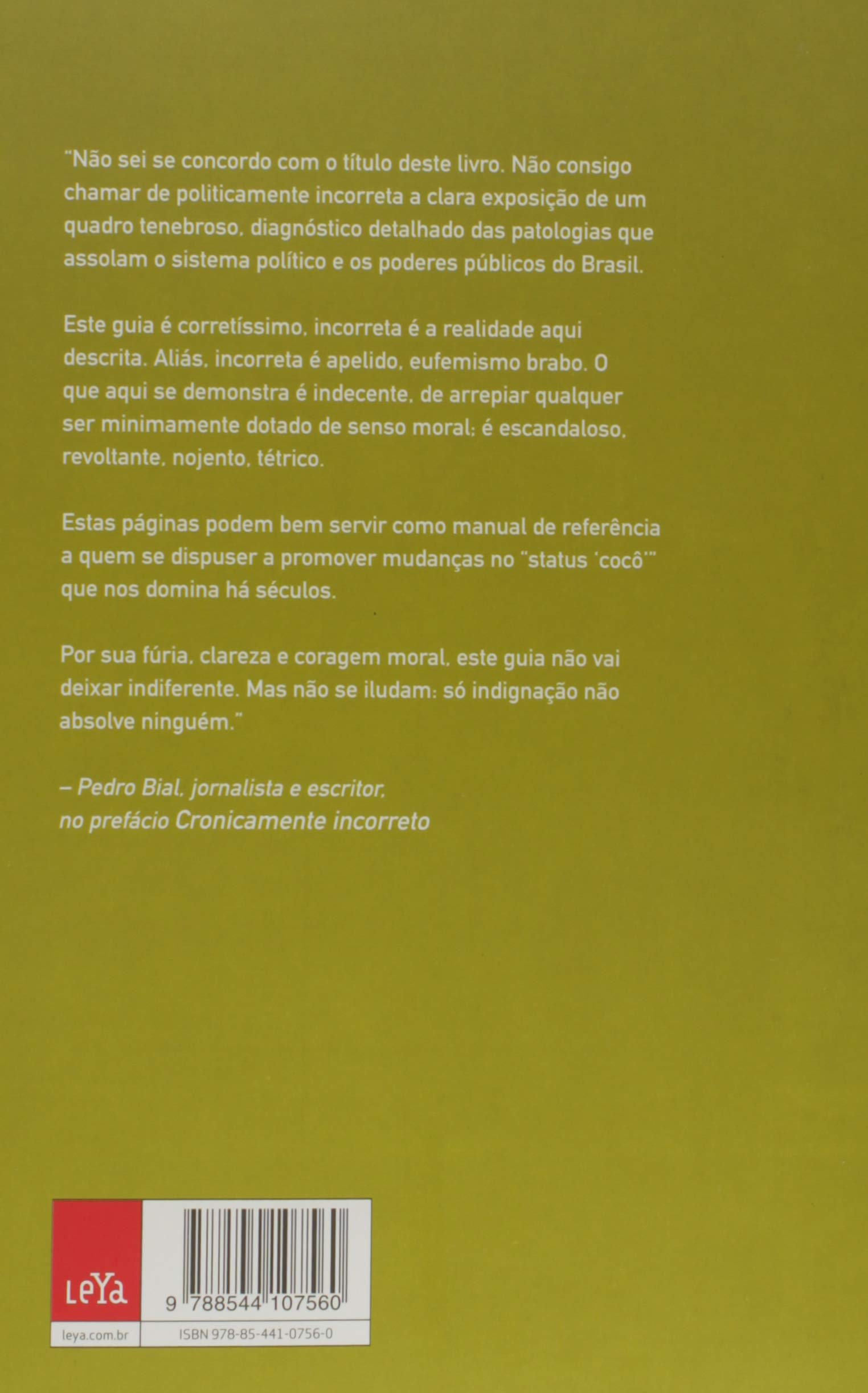 e0852ead4 Guia Politicamente Incorreto da Política Brasileira - 9788544107560 -  Livros na Amazon Brasil