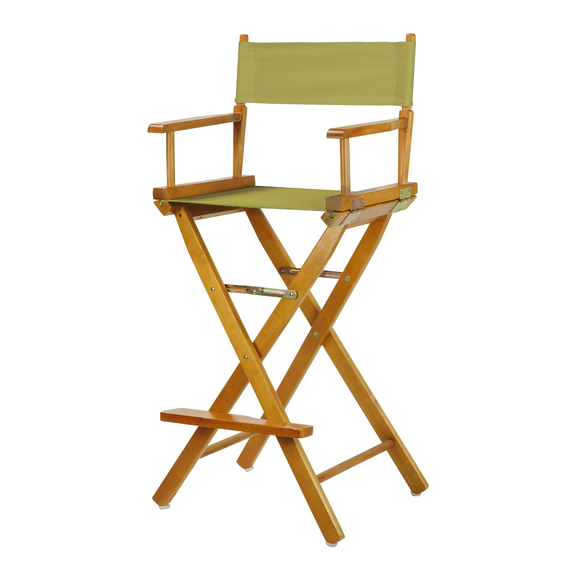 Casual Home 30'' Director's Chair Honey Oak Frame-with Olive Canvas, Bar Height