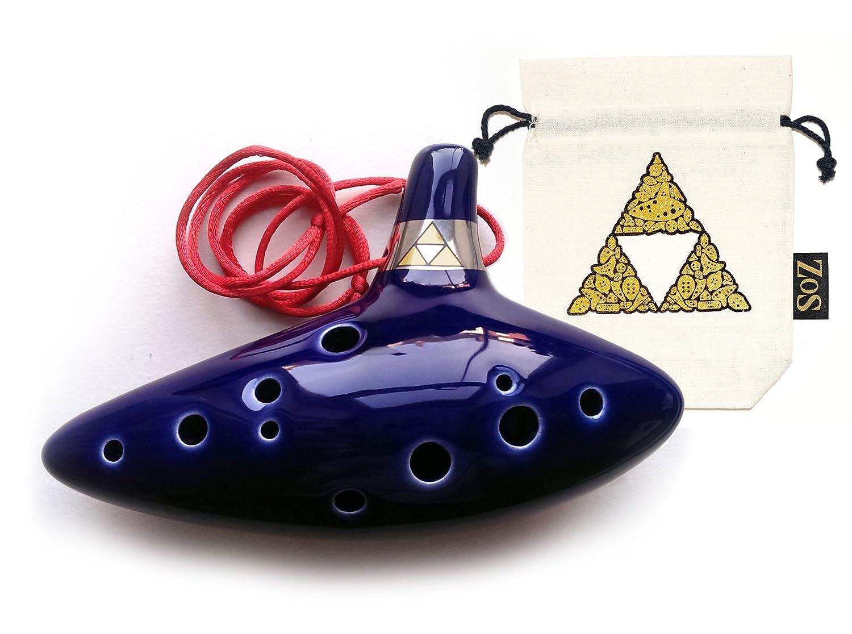 Legend Of Zelda ceramica Ocarina a 12 fori con sacchetto edizione limitata, opuscoli di canti e cavo, Majoras Ltd Edition ZoS