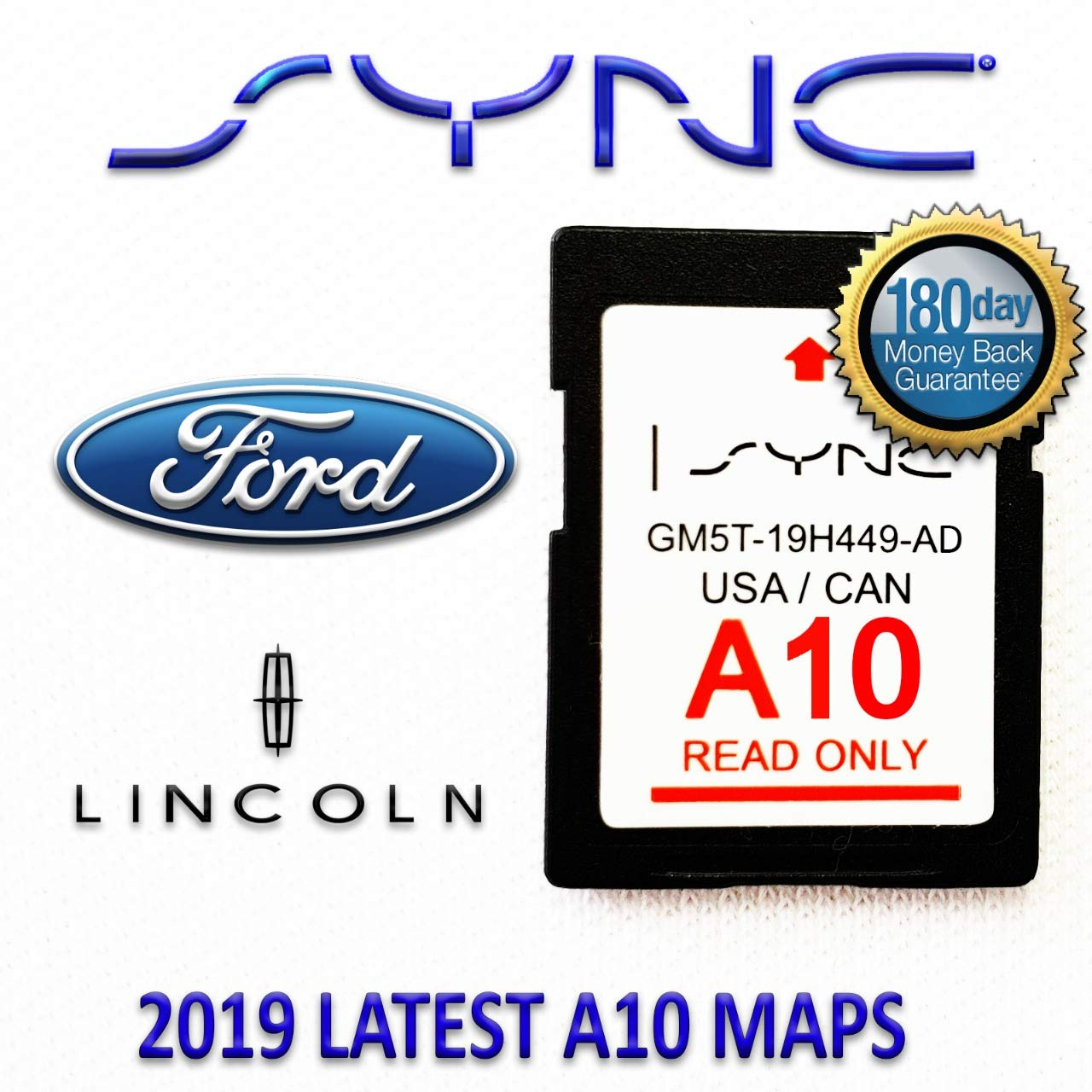 Ford Lincoln A10 Navigation SD Card USA/Canada by TeleNav